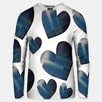 Thumbnail image of Silver hearts-White Sudadera unisex, Live Heroes