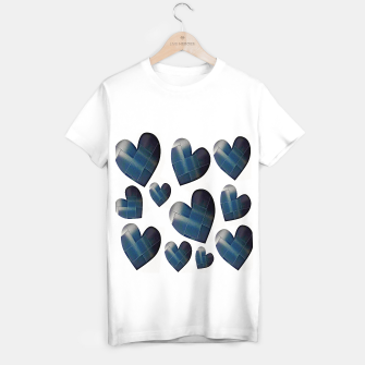 Thumbnail image of Silver hearts-White Camiseta Regular, Live Heroes