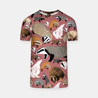Thumbnail image of Badgers pattern in pink Camiseta, Live Heroes
