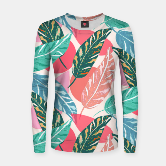 Thumbnail image of Painted Leaves Women sweater, Live Heroes