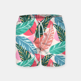 Thumbnail image of Painted Leaves Swim Shorts, Live Heroes