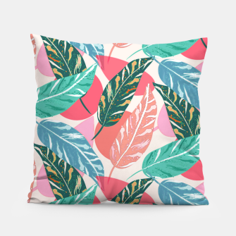 Thumbnail image of Painted Leaves Pillow, Live Heroes