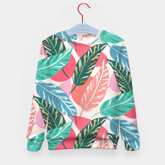Thumbnail image of Painted Leaves Kid's sweater, Live Heroes