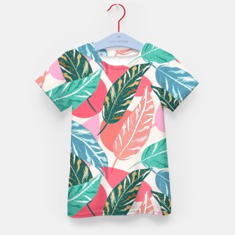 Thumbnail image of Painted Leaves Kid's t-shirt, Live Heroes