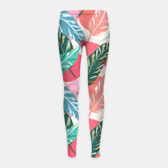Imagen en miniatura de Painted Leaves Girl's leggings, Live Heroes