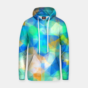 Thumbnail image of geometric triangle pattern abstract background in blue green orange Hoodie, Live Heroes