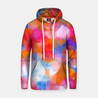 Thumbnail image of geometric triangle pattern abstract background in orange pink blue Hoodie, Live Heroes