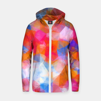 Thumbnail image of geometric triangle pattern abstract background in orange pink blue Zip up hoodie, Live Heroes