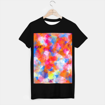 Thumbnail image of geometric triangle pattern abstract background in orange pink blue T-shirt regular, Live Heroes