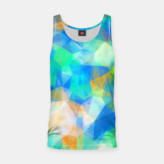 Thumbnail image of geometric triangle pattern abstract background in blue green orange Tank Top, Live Heroes
