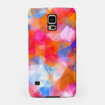 Thumbnail image of geometric triangle pattern abstract background in orange pink blue Samsung Case, Live Heroes