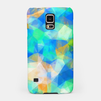 Thumbnail image of geometric triangle pattern abstract background in blue green orange Samsung Case, Live Heroes