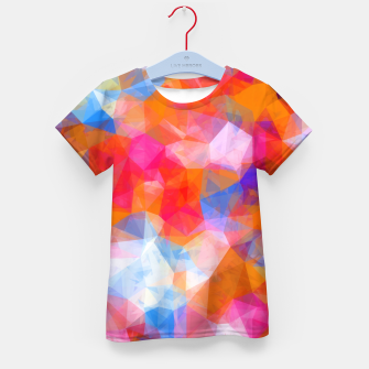 Thumbnail image of geometric triangle pattern abstract background in orange pink blue Kid's t-shirt, Live Heroes