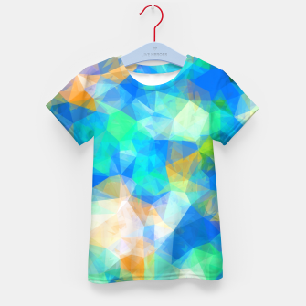 Thumbnail image of geometric triangle pattern abstract background in blue green orange Kid's t-shirt, Live Heroes