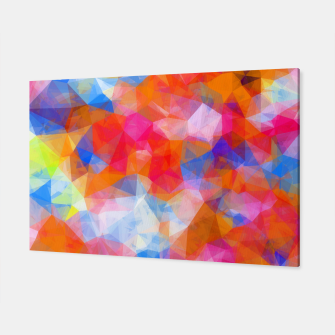 Thumbnail image of geometric triangle pattern abstract background in orange pink blue Canvas, Live Heroes