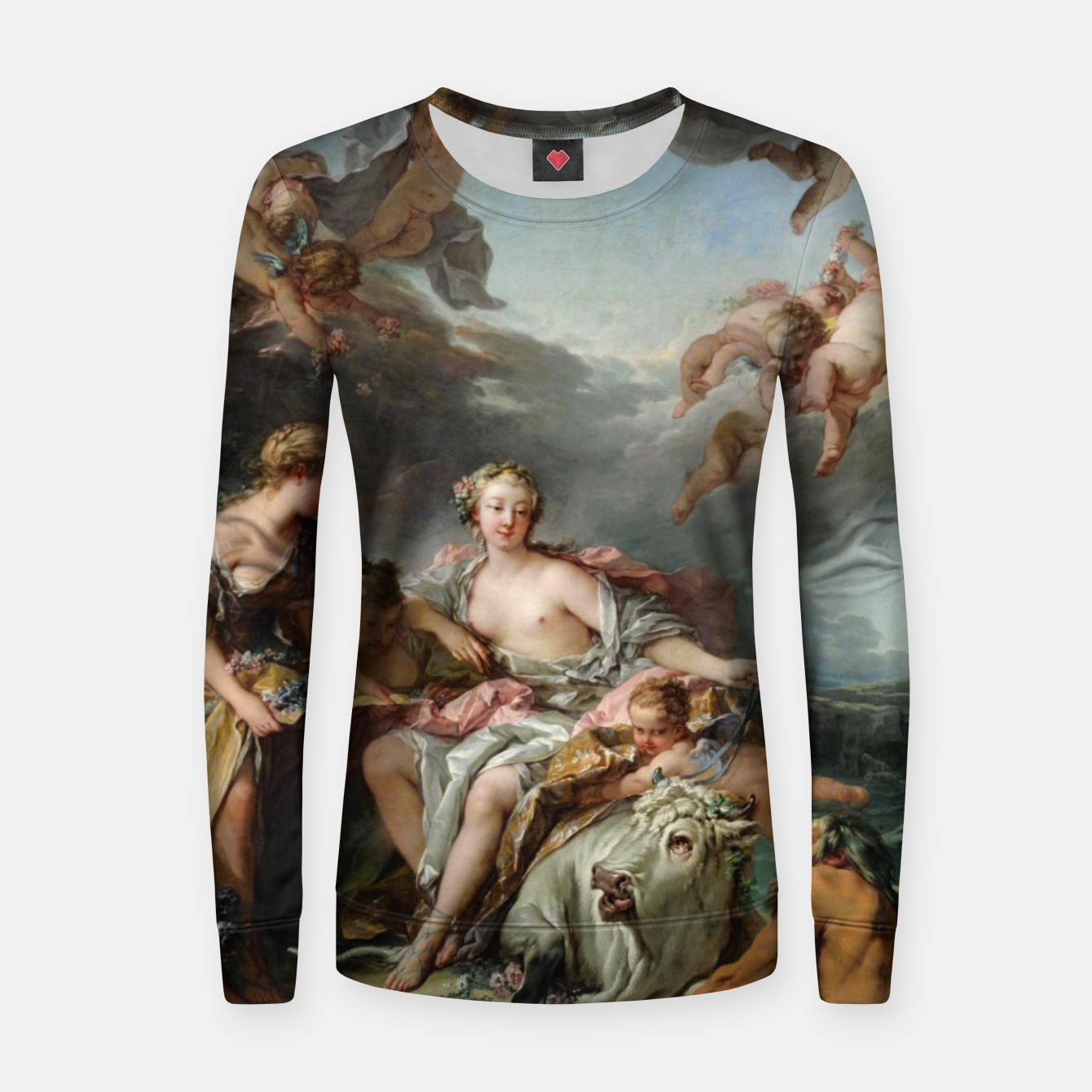 Zdjęcie The Rape of Europa by François Boucher Women sweater - Live Heroes
