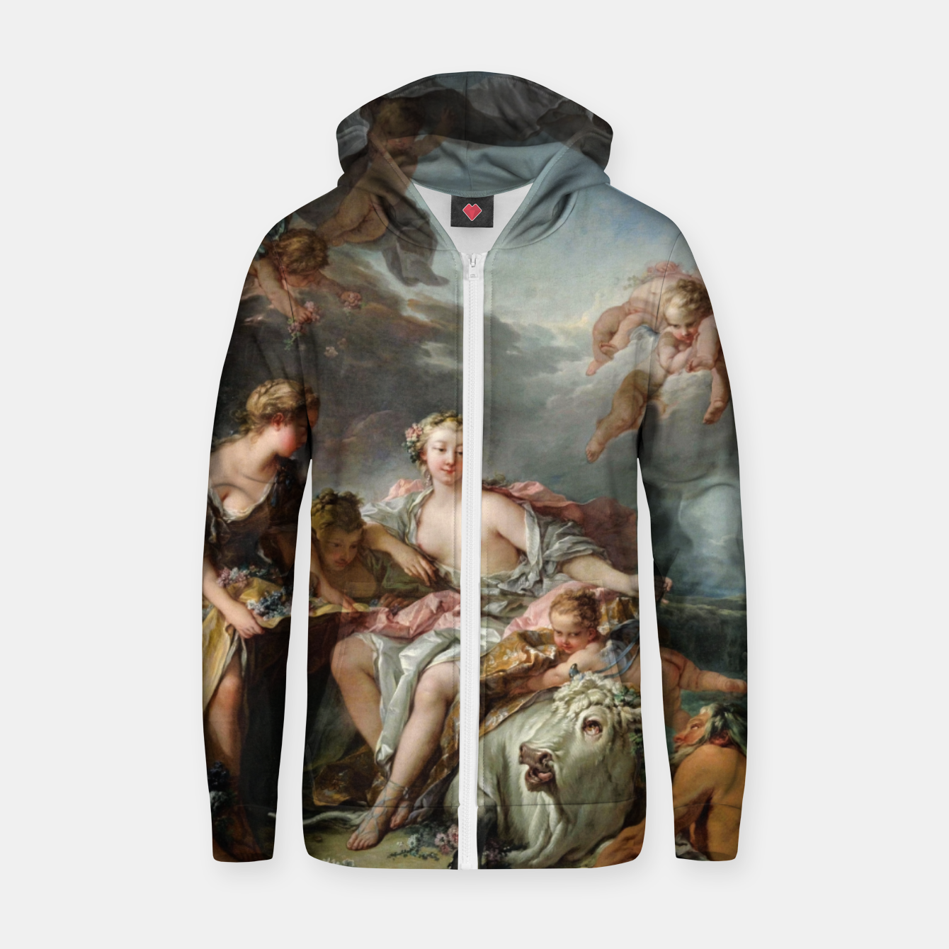 Zdjęcie The Rape of Europa by François Boucher Zip up hoodie - Live Heroes