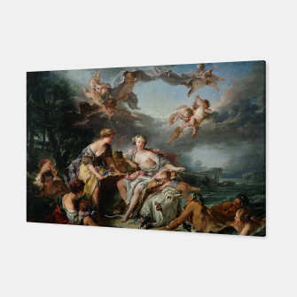 The Rape of Europa by François Boucher Canvas obraz miniatury