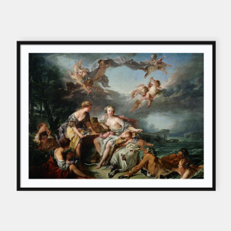 Thumbnail image of The Rape of Europa by François Boucher Framed poster, Live Heroes