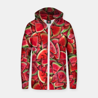 Miniature de image de Ripe juicy watermelon Zip up hoodie, Live Heroes