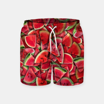 Miniature de image de Ripe juicy watermelon Swim Shorts, Live Heroes