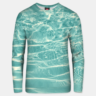 Turquoise Ocean Dream #1 #water #decor #art  Unisex sweatshirt obraz miniatury