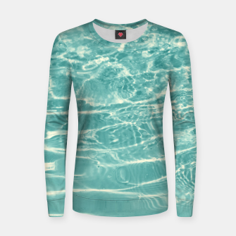 Turquoise Ocean Dream #1 #water #decor #art  Frauen sweatshirt obraz miniatury