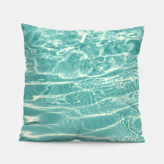 Thumbnail image of Turquoise Ocean Dream #1 #water #decor #art  Kissen, Live Heroes