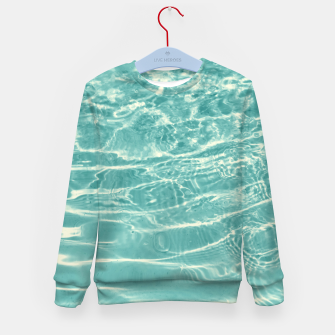 Thumbnail image of Turquoise Ocean Dream #1 #water #decor #art  Kindersweatshirt, Live Heroes