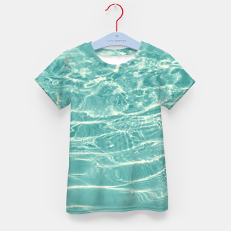 Thumbnail image of Turquoise Ocean Dream #1 #water #decor #art  T-Shirt für kinder, Live Heroes