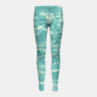 Thumbnail image of Turquoise Ocean Dream #1 #water #decor #art  Kinder-Leggins, Live Heroes