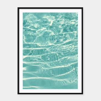 Thumbnail image of Turquoise Ocean Dream #1 #water #decor #art  Plakat mit rahmen, Live Heroes