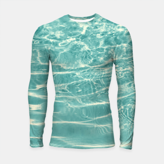 Turquoise Ocean Dream #1 #water #decor #art  Longsleeve rashguard obraz miniatury