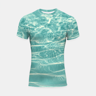 Thumbnail image of Turquoise Ocean Dream #1 #water #decor #art  Shortsleeve rashguard, Live Heroes