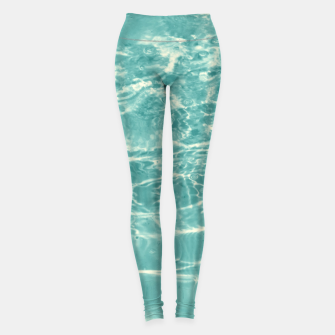 Thumbnail image of Turquoise Ocean Dream #1 #water #decor #art  Leggings, Live Heroes