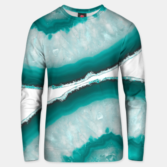 Thumbnail image of Turquoise Teal Agate #1 #gem #decor #art  Unisex sweatshirt, Live Heroes