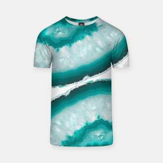 Thumbnail image of Turquoise Teal Agate #1 #gem #decor #art  T-Shirt, Live Heroes