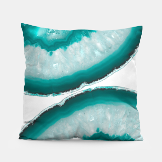 Thumbnail image of Turquoise Teal Agate #1 #gem #decor #art  Kissen, Live Heroes