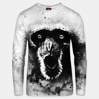 Thumbnail image of monkey 2 wsbw Unisex sweater, Live Heroes
