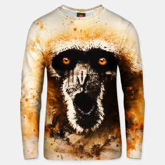 Thumbnail image of monkey 2 wsstd Unisex sweater, Live Heroes