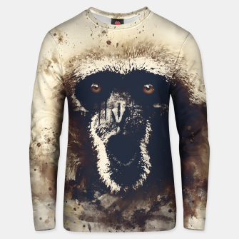 Thumbnail image of monkey 2 wsfn Unisex sweater, Live Heroes