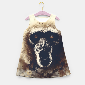 Thumbnail image of monkey 2 wsfn Girl's summer dress, Live Heroes