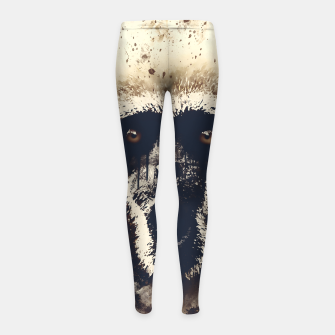 Thumbnail image of monkey 2 wsfn Girl's leggings, Live Heroes
