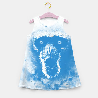 Thumbnail image of monkey 2 wswb Girl's summer dress, Live Heroes
