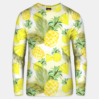 Thumbnail image of Pineapple Watercolor Fresh Summer Fruit Unisex sweater, Live Heroes