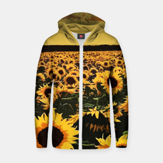 Thumbnail image of SunFlowers Sudadera con capucha y cremallera , Live Heroes