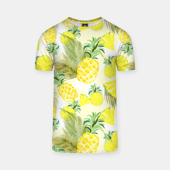 Thumbnail image of Pineapple Watercolor Fresh Summer Fruit T-shirt, Live Heroes