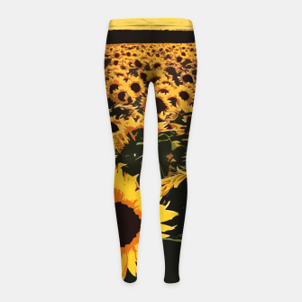 Thumbnail image of SunFlowers Leggings para niña, Live Heroes