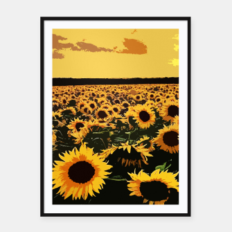 SunFlowers Cartel con marco thumbnail image