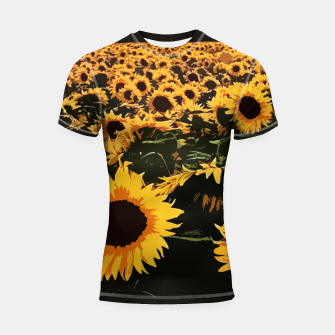 Thumbnail image of SunFlowers Shortsleeve rashguard, Live Heroes